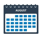 Sierpień kalendarza ikona ilustracja wektor