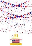 31 Sierpień - Wektorowego ilustracyjnego Malezja dnia niepodległości Patriotyczny projekt Szczęśliwy dnia niepodległości wektoru  ilustracja wektor
