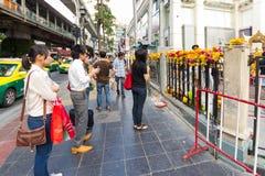 Sierpień 23, 2015: Brahma statua po terror bomby i ataka Fotografia Stock