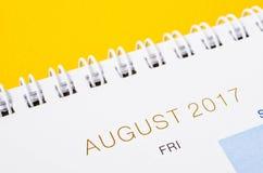 Sierpień kalendarza chodnikowiec Zdjęcia Royalty Free