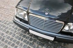 Sierpień 7, 2012, Ukraina, Kijów Mercedes-Benz W124 E500 wilk fotografia royalty free