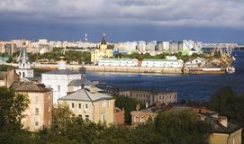 Sierpień w Nizhny Novgorod Rosja Obrazy Royalty Free