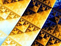sierpinski三角 皇族释放例证