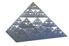 Sierpinskitetrahedronen Royaltyfri Bild
