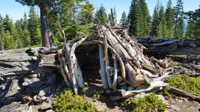 Sierra abri de montagne photographie stock libre de droits
