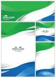 Sierra abstraite Leone Flag Background Photos stock