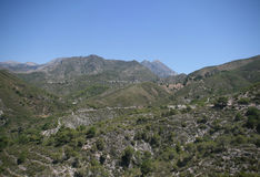 Sierra of Almijara, Nerja Stock Images