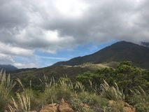 Sierra bermeja widok w Andalusia Obrazy Royalty Free