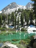 Sierra centrale lac glaciaire images stock