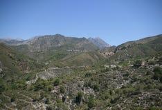 Sierra d'Almijara, Nerja images stock