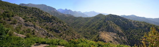 Sierra DE Almijara royalty-vrije stock afbeeldingen