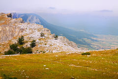 Sierra de Andia山  纳瓦拉,西班牙 库存图片