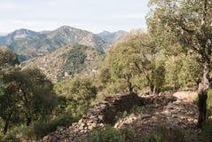 Sierra de Espada. Mediterranean mountain landscapes on the range of Espada in Castellon de la Plana, Valencia, Spain Stock Photography