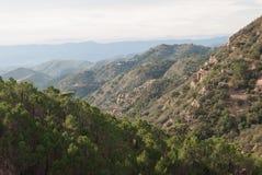 Sierra de Espada. Mediterranean mountain landscapes on the range of Espada in Castellon de la Plana, Valencia, Spain Stock Photo