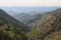 Sierra de Espada. Mediterranean mountain landscapes on the range of Espada in Castellon de la Plana, Valencia, Spain Royalty Free Stock Photography