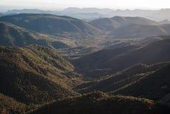Sierra de Espada. Mediterranean mountain landscapes on the range of Espada in Castellon de la Plana, Valencia, Spain Stock Images