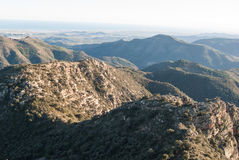 Sierra de Espada. Mediterranean mountain landscapes on the range of Espada in Castellon de la Plana, Valencia, Spain Royalty Free Stock Photos