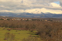 Sierra de Gredos风景 免版税库存图片