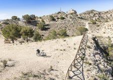 Sierra De Las à  guilas w Alicante Obraz Stock