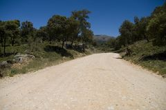 Sierra de las Nieves landscape Stock Photography
