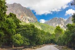 Sierra de Tramuntana,马略卡,西班牙 免版税图库摄影
