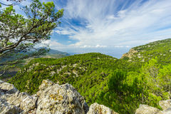 Sierra de Tramuntana,马略卡,西班牙 免版税库存照片