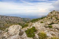 Sierra de Tramuntana Mountains,马略卡,西班牙 库存照片