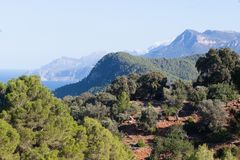 Sierra de Tramuntana mountains in Banyalbufar, Majorca. Spain Stock Image
