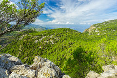 Sierra de Tramuntana Mountains, Mallorca, Spain. Beautiful view of Sierra de Tramuntana, Mallorca, Spain Stock Photo