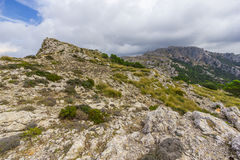 Sierra de Tramuntana Mountains, Mallorca, Spain. Beautiful view of Sierra de Tramuntana, Mallorca, Spain Royalty Free Stock Photos