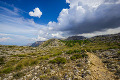 Sierra de Tramuntana Mountains, Mallorca, Spain. Beautiful view of Sierra de Tramuntana, Mallorca, Spain Royalty Free Stock Photography