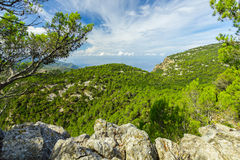 Sierra de Tramuntana Mountains, Mallorca, Spain. Beautiful view of Sierra de Tramuntana, Mallorca, Spain Stock Images