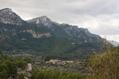 Sierra de Tramuntana mountains near Estellencs village. Majorca. Spain Stock Photography