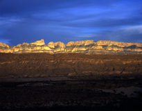 Sierra Del Carmen at Sunset. The Sierra Del Carmen at sunset as seen from Big Bend National Park Stock Photography