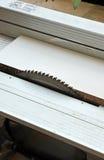 Sierra del poder del disco, herramientas eléctricas de la carpintería Foto de archivo