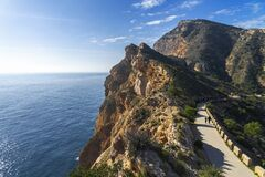 Free Sierra Gelata Natural Park And Trip Road To The Lighthouse Albir, Costa Blanca, Spain Royalty Free Stock Photo - 174207705