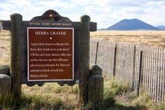 Sierra Grande Wymarły wulkan Zdjęcie Royalty Free