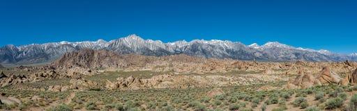 Sierra intervallo di montagna di Nevada Fotografie Stock