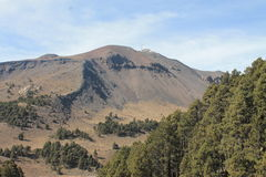 Sierra la NEgra. Near Ciudad Serdan, panoramic view. home to the great millimiter telescope in Mexico Stock Photography