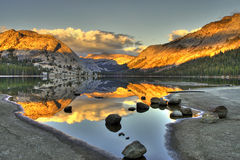 Sierra Lake Sunset Stock Photo