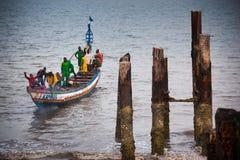 Sierra Leone, afryka zachodnia plaże Yongoro Zdjęcia Royalty Free