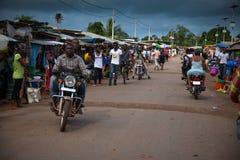 Sierra Leone, afryka zachodnia plaże Yongoro Zdjęcia Stock