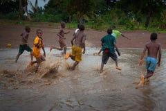 Sierra Leone, afryka zachodnia plaże Yongoro Zdjęcie Stock