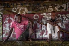 Sierra Leone, afryka zachodnia wioska Yongoro Obraz Royalty Free