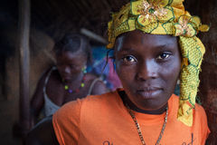 Sierra Leone, afryka zachodnia wioska Yongoro Zdjęcia Royalty Free