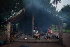 Sierra Leone, afryka zachodnia wioska Yongoro Fotografia Stock