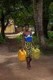 Sierra Leone, afryka zachodnia wioska Yongoro Obrazy Royalty Free