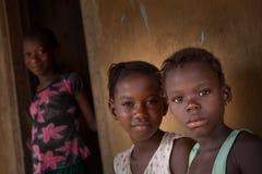 Sierra Leone, afryka zachodnia wioska Yongoro Zdjęcie Stock