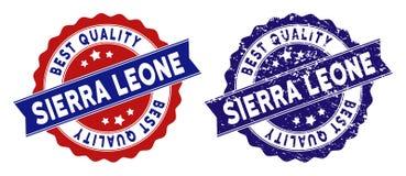 Sierra Leone Best Quality Stamp con struttura della polvere Fotografia Stock