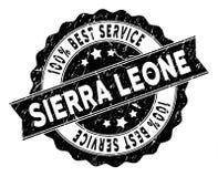 Sierra Leone Best Service Stamp con stile della polvere Fotografie Stock
